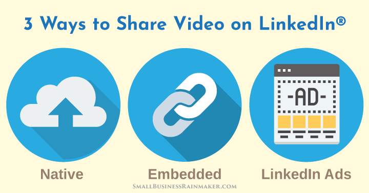 3 ways to share video linkedin