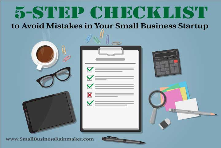 5 step checklist to avoid mistakes small business startup