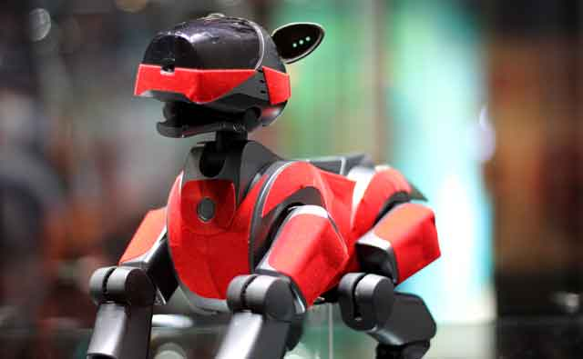 AI in business Sony robot pets