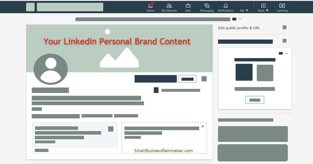 LinkedIn personal brand content