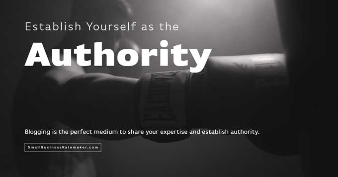 blogging establishes authority