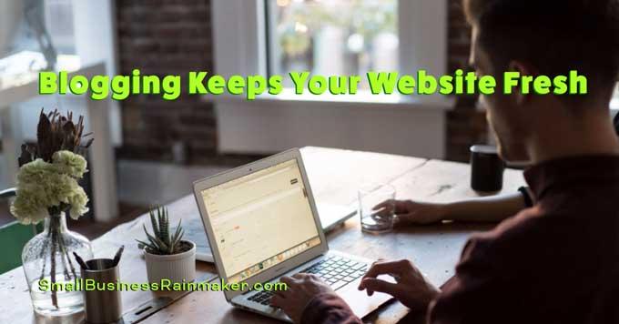blogging keeps website relevant
