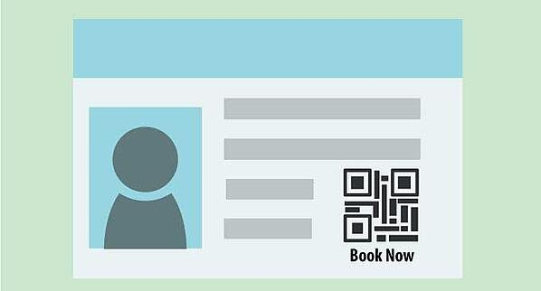business card qr code book appointments