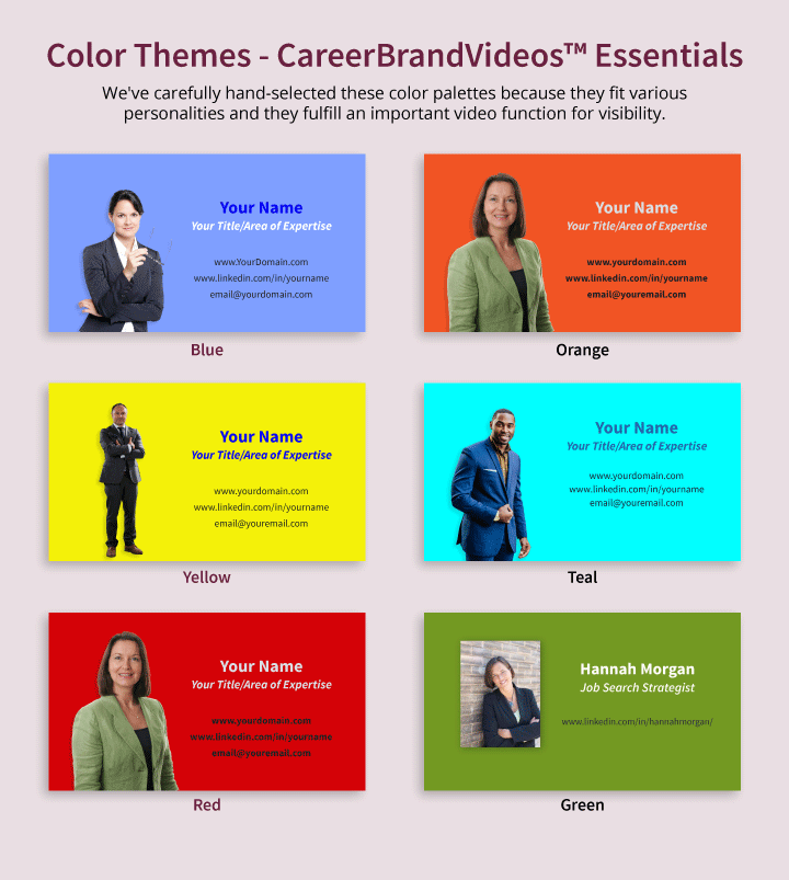 careerbrandvideos essentials color themes