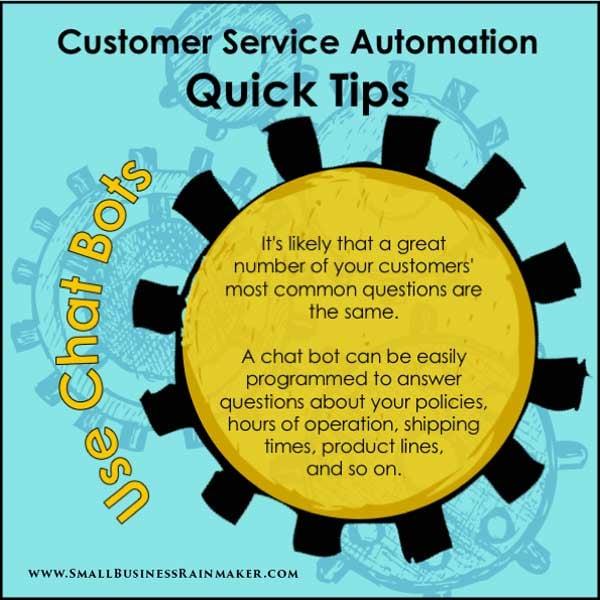 chatbots help automate customer service