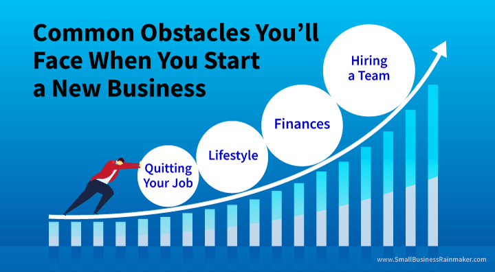 common obstacles you face when you start a new business