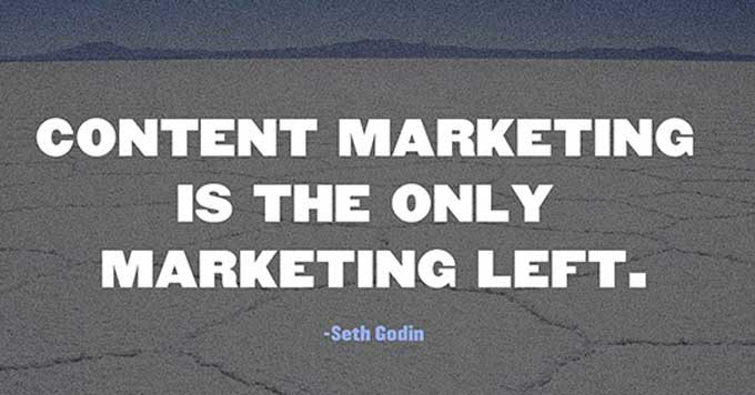 content marketing is the only marketing