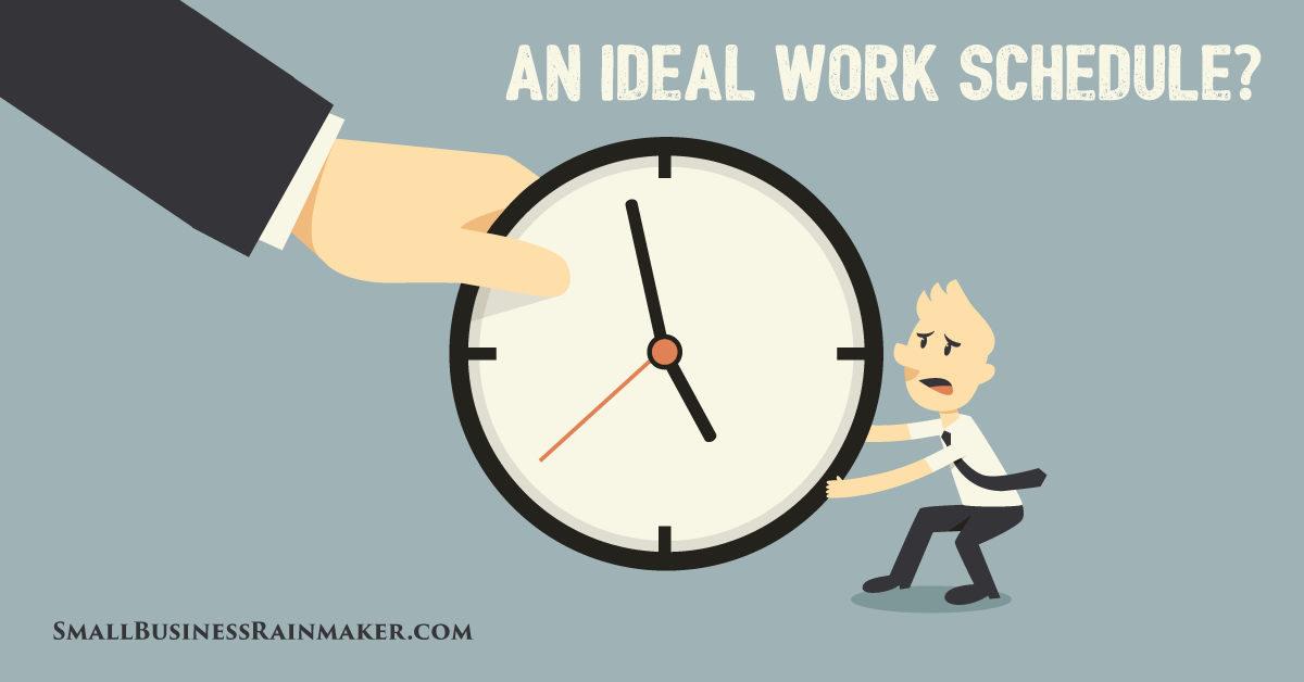 does employee work schedule reflect ideal work hours