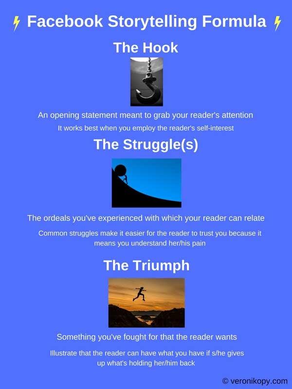 facebook storytelling formula