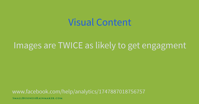 facebook visual content gets twice the engagement
