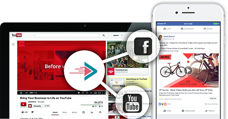 facebook youtube video integration