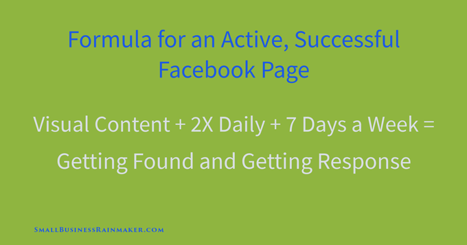 formula for successful facebook company page