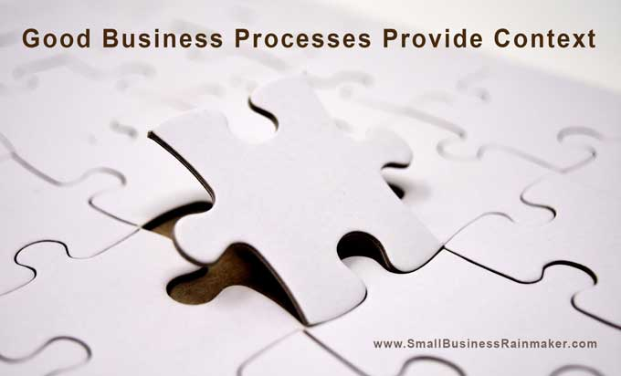 good business processes provide context