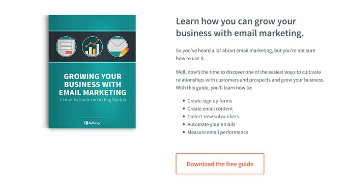 grow your business email marketing aweber