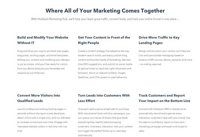headline examples landing pages