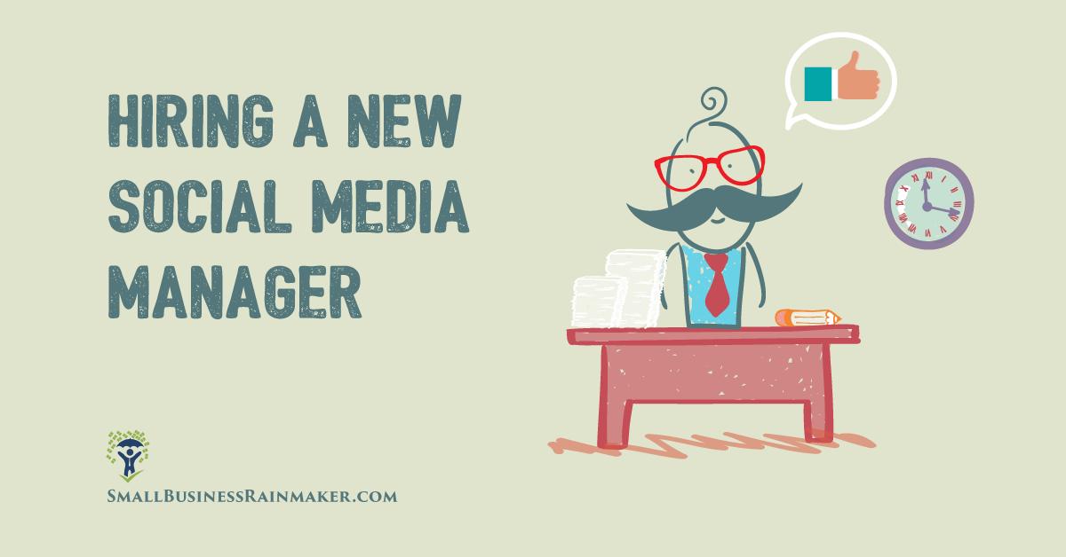 hiring a new social media manager