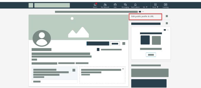 how to edit public profile linkedin