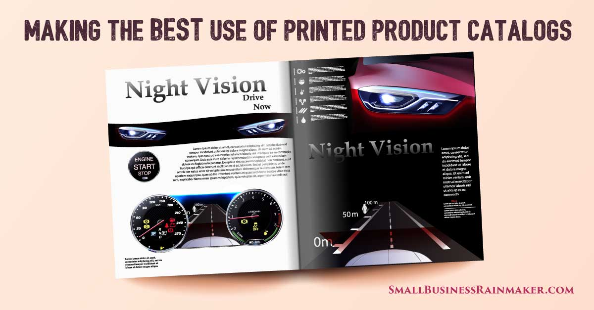 how to make the best use of printed product catalogs