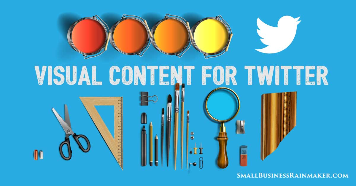 how to use visual content twitter