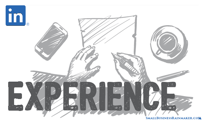 how to write content linkedin experience section
