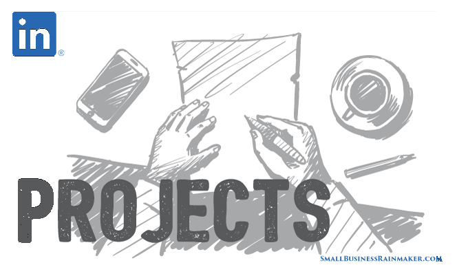 how to write content linkedin project section