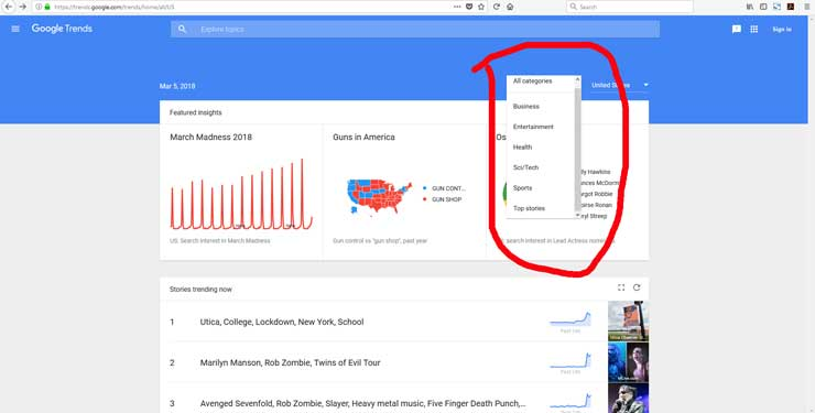How To Use Google Trends Categories Restaurant Marketing