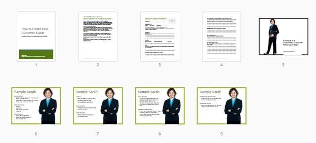 restaurant customer avatar worksheet and example