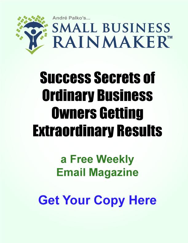 Small Business Rainmaker Newsletter