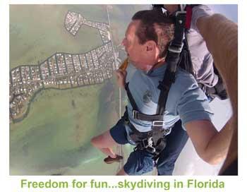 Pat Palko skydiving