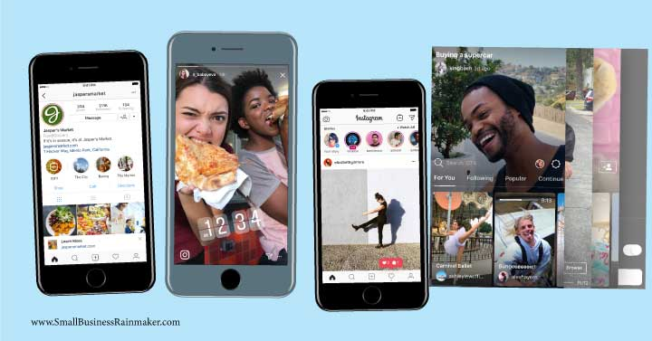 instagram stories IGTV promote business