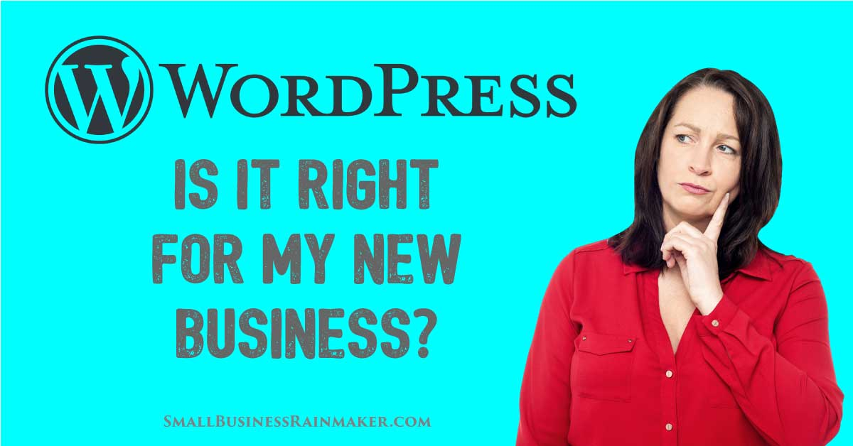 is wordpress right for my new business