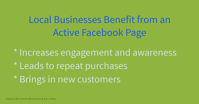 local businesses benefit facebook company page