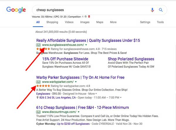 local search ads versus organic
