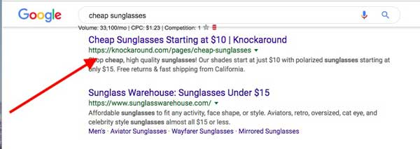 local search organic listing seo