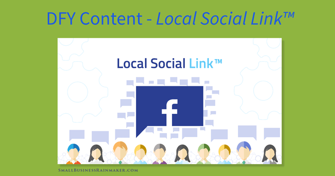 local social link visual content for facebook