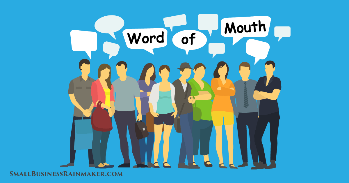 non electronic word of mouth marketing