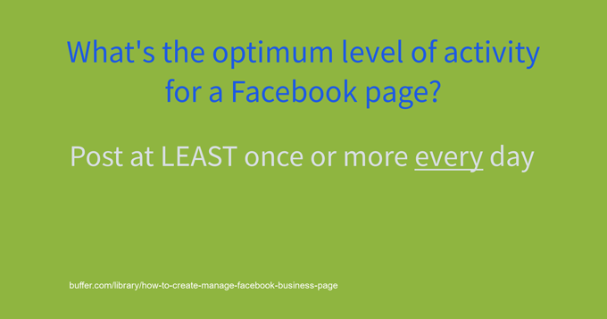optimum post frequency facebook company page
