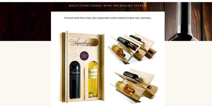 packaging design gets you noticed aquilegia wine rack