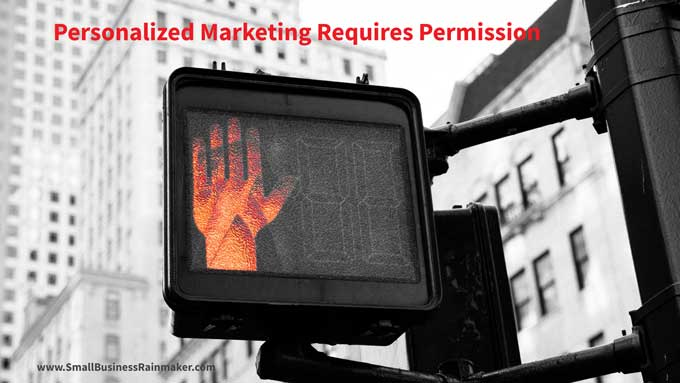 personalized marketing requires permission