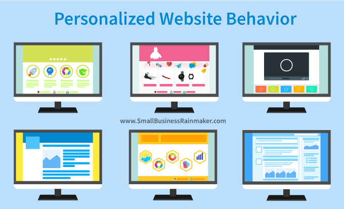 personalized website behavior