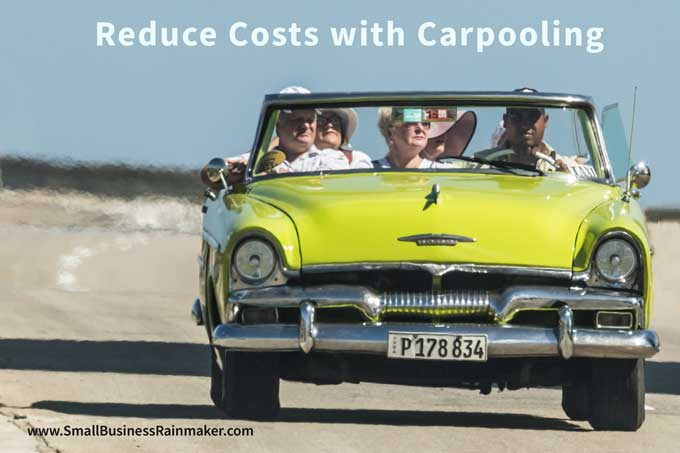 reduce small business costs with carpooling