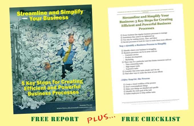 report plus checklist creating efficient business processes