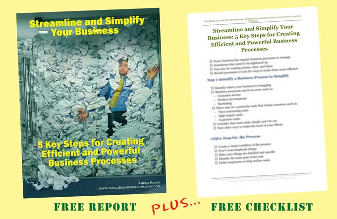 report plus checklist creating efficient business processes