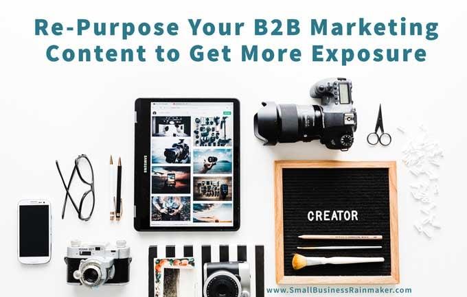 repurpose B2B content for more exposure