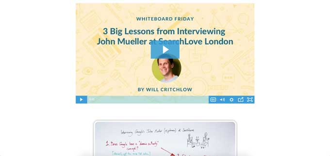 seo moz whiteboard friday video