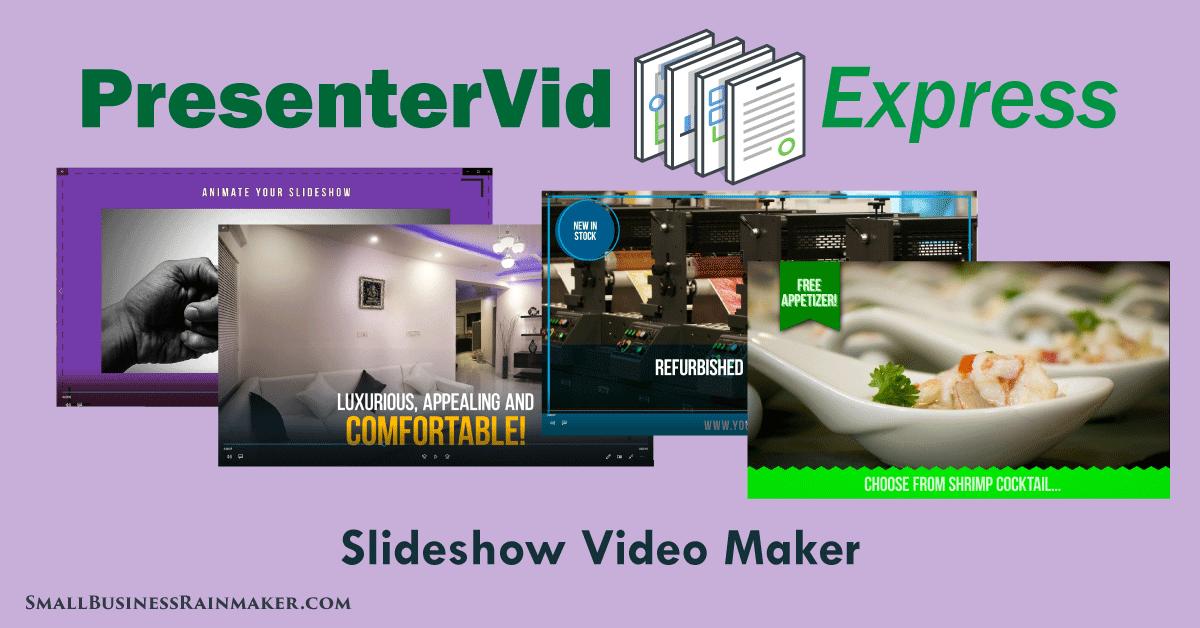 slideshow video maker presentervid express