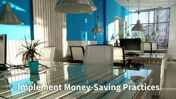 small business money saving practices lighting