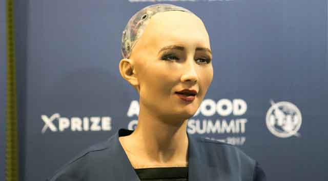 sophia ai problem solving robot