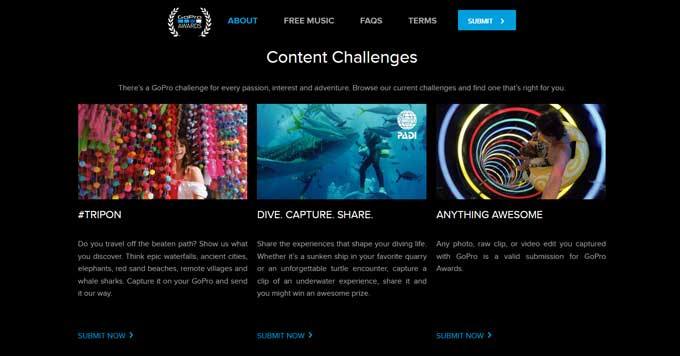 storytelling content ecommerce go pro