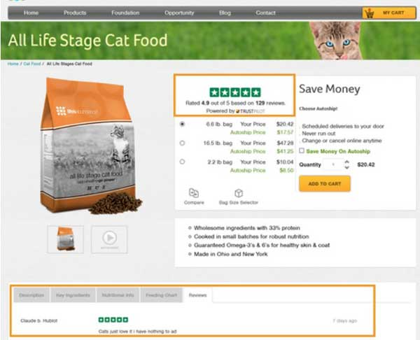 use customer reviews for social proof